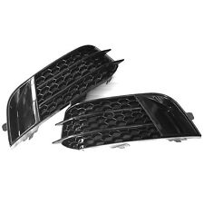 RS1 Style Black Front Fog Light Cover Grille Trim for Audi A1 Non Sline 11-14