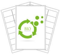 Biodegradable Printer Labels | Eco Friendly Compostable Stickers | Laser/Inkjet