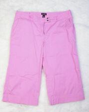 Steve & Barrys Womens Pants Sz 16 Cropped Capris Pink Casual Summer