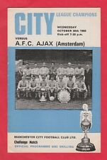 Orig.PRG   30.10.1968   MANCHESTER CITY FC - AJAX AMSTERDAM  !!  SELTEN