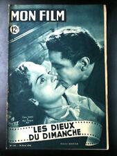 """Mon Film 20/04/49 """"Les Dieux du Dimanche"""" Claire Mafféi"""