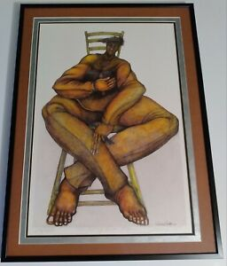 """""""The Seat of Knowledge"""" by Charles Bibbs Limited Edition Framed/Matted #676"""