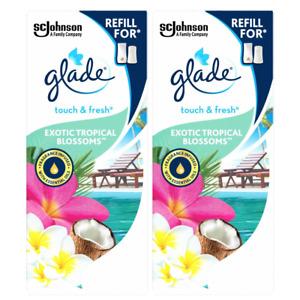 2x Glade Touch & Fresh Refill Exotic Tropical Blossom Air Freshener 10ml