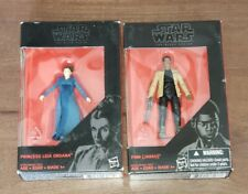 "Both PRINCESS LEIA ORGANA (DQAR) & FINN(JAKKU)  Black Series 3.75"" Figs Walmart"