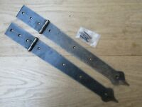 "Pair of 15"" SPEAR HEAD STRAP HINGES  Rustic vintage Blanket Box Chest trunk"