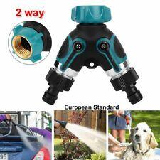 2 Wege Wasserverteiler Gartenschlauch Wasserhahn Verteiler Ventil