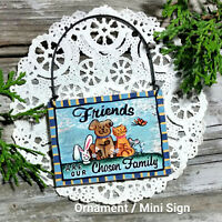DecoWords Mini SIGN Friends are Our Chosen Family Gift Wood Everyday Ornament
