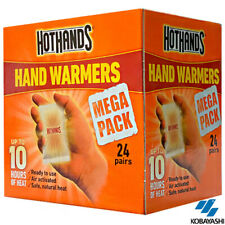 48 x HOTHANDS DISPOSABLE BODY HOT HANDS POCKET WARMER 10HRS MEGA PACK 24 PAIRS