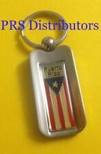 PUERTO RICO CHROME METAL KEYCHAIN PUERTO RICO FLAG KEYCHAIN KEY CHAIN