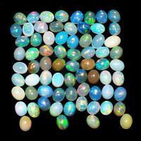 91 Pcs Natural Opal Finest Quality Untreated Flashy Cabochon Gems from Ethiopia