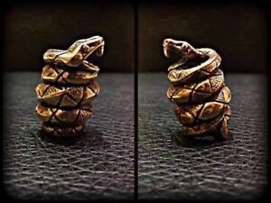 Snake Paracord Bracelet Bead Solid Bronze Handmade Lanyard Beads Knife Tool New