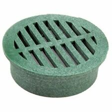 "NDS 6"" Round Grate, Handle Light Foot Traffic, Green"