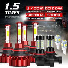 For Buick Lucerne 06-11 LED Headlight High Low Beam Fog Light Combo Bulbs V5plus