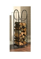 Black Finish, Heavy Duty, Vertical Log Rack