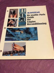 Navistar Re-usable Parts Guide for Engine Reconditioning International CGE-436