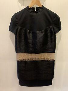Stunning Black Chain Mail Panel Paco Rabanne Dress Size 8 Immaculate Worn Twice