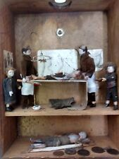 Autopsy diorama : vintage box art : surgery blood death post-mortem anatomists