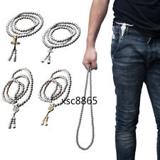Kung Fu Stainless Steel Chain 108 Beads Bracelet Necklace