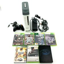 Microsoft Xbox 360 Pro Launch Edition Matte White Console Bundle -Tested-READ