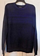 Marc Anthony Mens Size L Large Sweater Slim Fit Long Sleeve Holiday Blue NWT $70