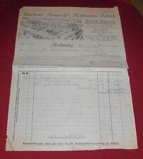 rechnung alt antik papier firmenansicht münchener furnier hofheimer fabrik 1928