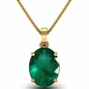 100% Natural Green Emerald, sterling Silver Goldplated pendent Locket 3.50 Carat