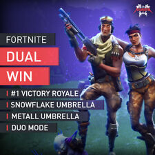 3x Wins Fortnite Duo mode #1 Victory Royale Snowflake METAL Umbrella Boost [PC]