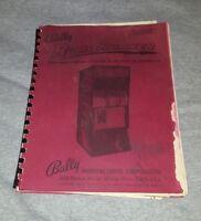 BALLY ARCADE ROADRUNNER Service Instructions and Parts Catalog RoadRunner Manual