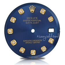For Rolex Datejust Two Tone 36mm 1601 1603 Blue Diamond Dial - NON QUICKSET