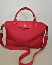 Longchamp Red Medium Le Pliage Neo Nylon Tote