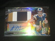 SEAN MANNION RAMS ROOKIE CERTIFIED AUTOGRAPHED SIGNED FOOTBALL JERSEY CARD /75