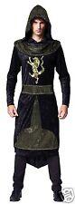 Costume da Re Medievale Cavaliere Nero Arthur Sceriffo di Nottingham Costume XL