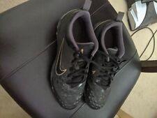 Nike women's softball cleats Hyperdiamond size 10 black/gold. used about 10times
