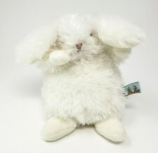 """6"""" BUNNIES BY THE BAY WHITE BUNNY RABBIT STUFFED ANIMAL PLUSH TOY LOVEY SOFT"""