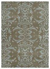 Modern Beige and Brown 5X8 Feet Wool and Viscose Oriental Hand Tufted Area Rug