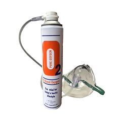 1 x Pure Oxygen 10 Litre can with 1 x Mask and 1.8 M Tubing, Portable Oxygen