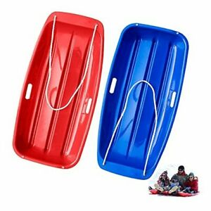 Snow Sled, Plastic Flexible Flyer Snow Sled for Kids and Adults red-blue
