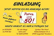 40 witzige Einladungskarten Frau Geburtstag Einladungen knackiges Alter Party