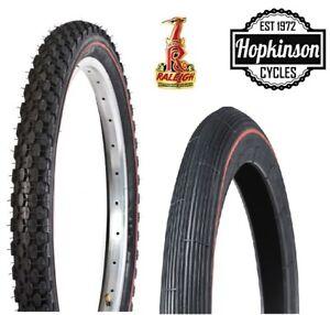 """Raleigh Chopper Tyres Front / Rear Genuine MK1 MK2 MK3 Redline 20"""" / 16"""" Tyre"""