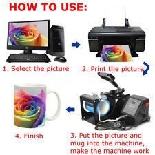 350W Coffee Mug 9oz-15oz Cup Sublimation Heat Press Transfer Machine DIY Printer