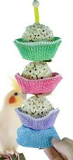 1931 3CAKE BIRD TOY foraging parrot cage toys cages shred cockatiel african grey
