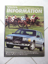 Volvo 740 480 information 1/88 - catalogue brochure dépliant prospekt catalog