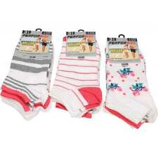 Cotton Blend Machine Washable Floral Socks for Women