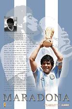 Rare DIEGO MARADONA World Cup 1986 Argentina Soccer Commemorative Poster