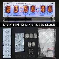 DIY KIT IN-12 Nixie Tubes Clock USB RGB Musical Arduino compatible [WITH TUBES]