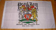 Pearl Jam Manchester United Kingdom England Concert Tour Flag Banner 2012 NIB