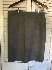 NWOT J Crew No 2 Gray Wool Pencil Skirt Size 12