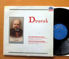 Dvorak Cello & Piano Concerto 2xLP Chuchro Kvapil 1977 NM/EX Supraphon 1SUPD 005