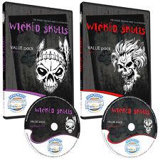 SKULLS CLIPART-VINYL CUTTER PLOTTER CLIP ART IMAGES-VECTOR CLIP ART GRAPHICS CD
