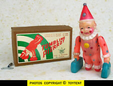 Tumbling Pierrot circus clown celluloid wind-up toy Japan SEE MOVIE